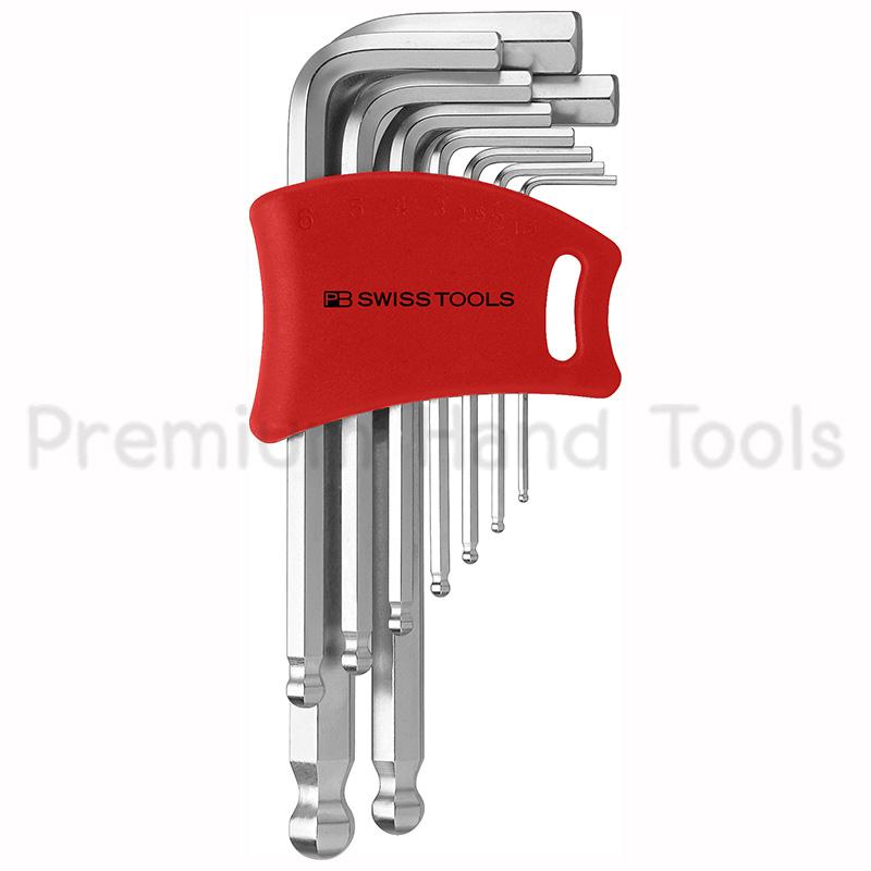 หกเหลี่ยมชุด PB Swiss Tools หัวบอล สั้น รุ่น PB 212 DH-10 (9 ตัว/ชุด) พร้อม Socket แบบใหม่