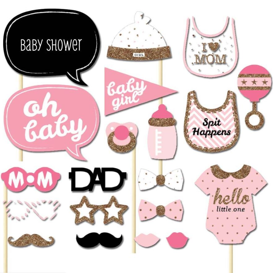 BABY SHOWER (GIRL) Photo Booth Prop