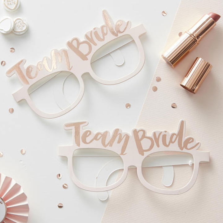 Paper Eyeglasses - TEAM BRIDE / BRIDE TO BE