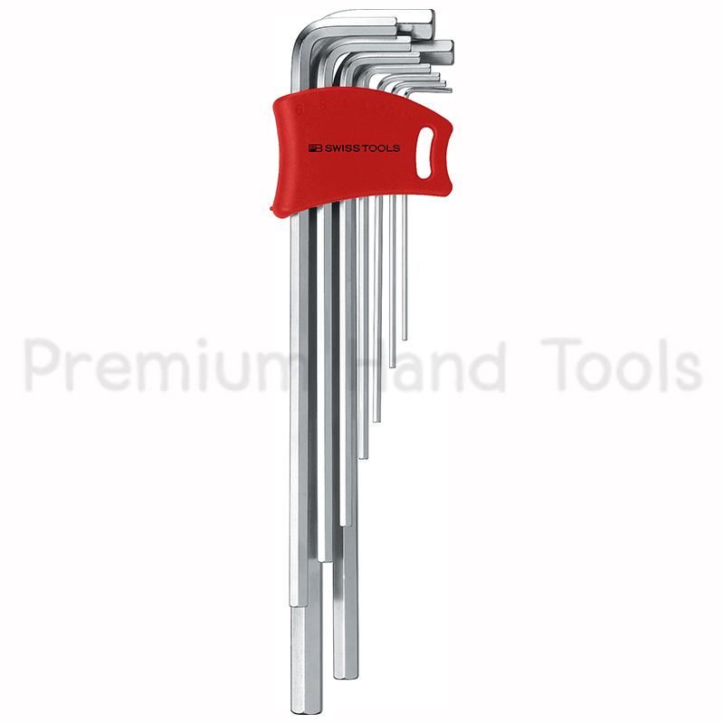 หกเหลี่ยมชุด PB Swiss Tools หัวตัด ยาว รุ่น PB 211 DH-10 (9 ตัว/ชุด) พร้อม Socket ใหม่