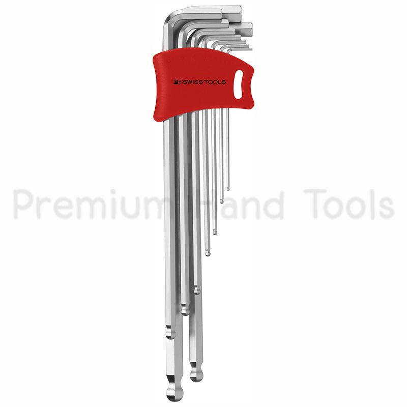 หกเหลี่ยมชุด PB Swiss Tools หัวบอล ยาว รุ่น PB 212 LDH-10 (9 ตัว/ชุด) พร้อม Socket แบบใหม่