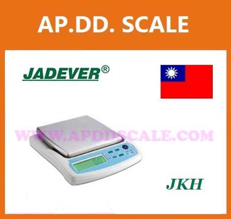 เครื่องชั่งดิจิตอล เครื่องชั่งแบบตั้งโต๊ะ 1000g ความละเอียด0.2g แท่น140x140mm. ยี่ห้อ JADEVER รุ่น JKH-1000