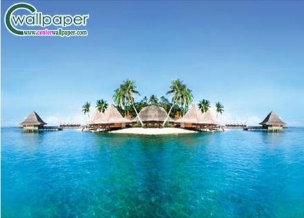 ภาพวิวบ้านพักบนเกาะกลางทะเล Enchanted Island