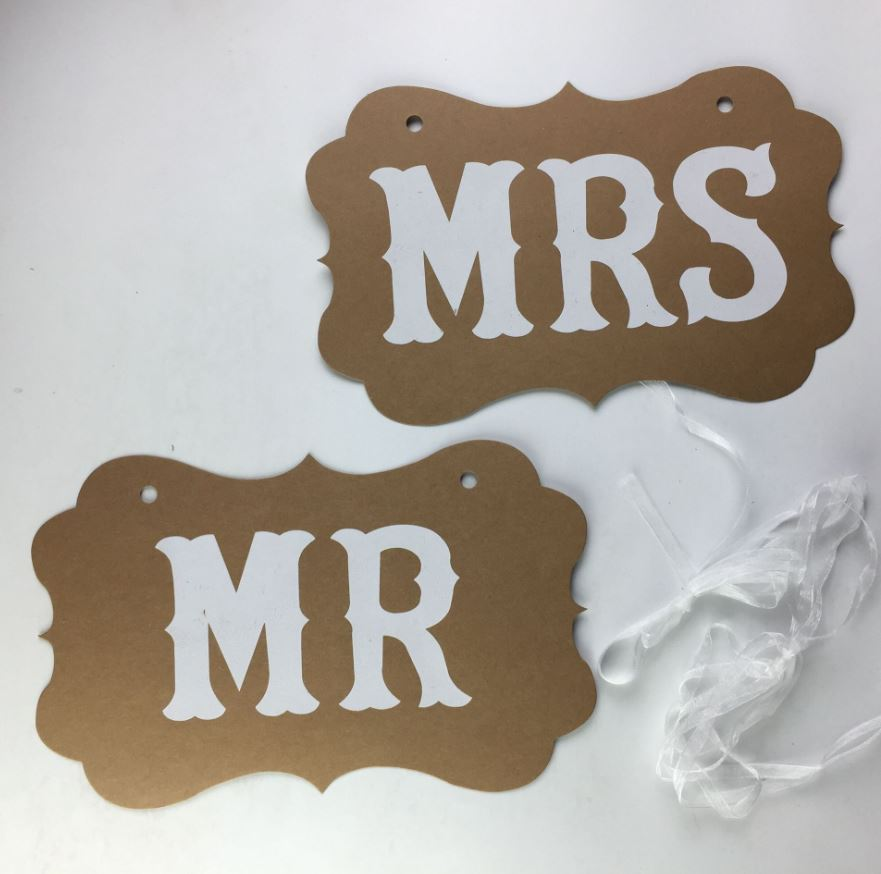 MR & MRS Signs for Pre-wedding (Kraft Paper)
