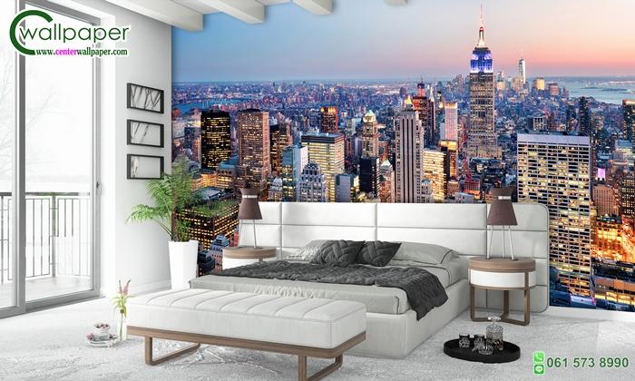 วอลเปเปอร์ติดผนังภาพวิวเมืองนิวยอร์ค (new york city)
