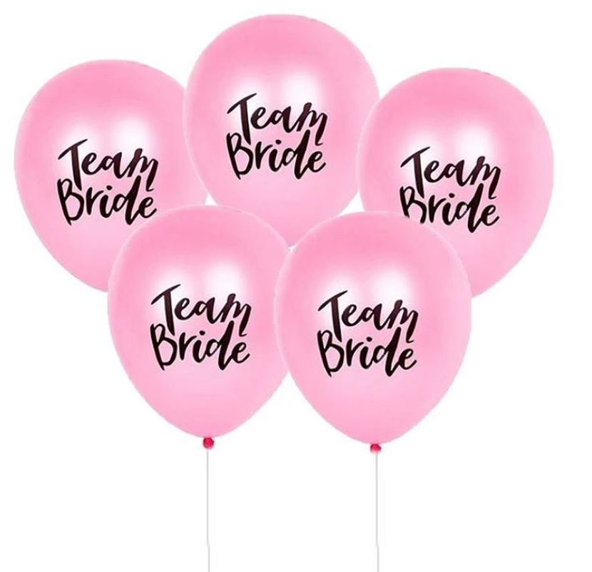 """*Bestselling* TEAM BRIDE 10"""" Balloons (Pink)"""
