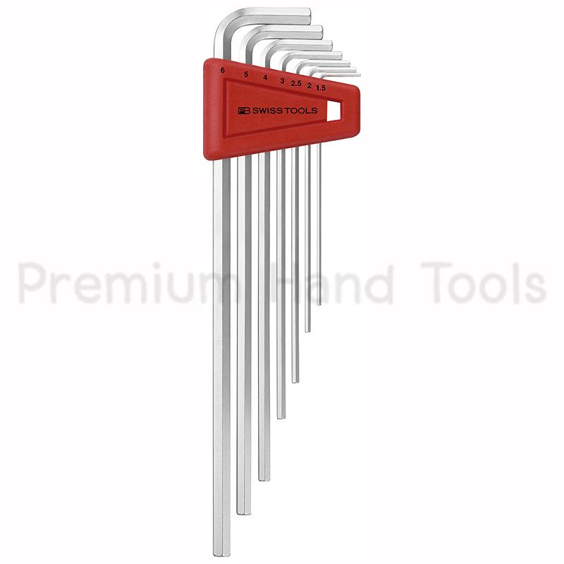 หกเหลี่ยมชุด PB Swiss Tools หัวตัด ยาว รุ่น PB 211 H-6 (7 ตัว/ชุด)
