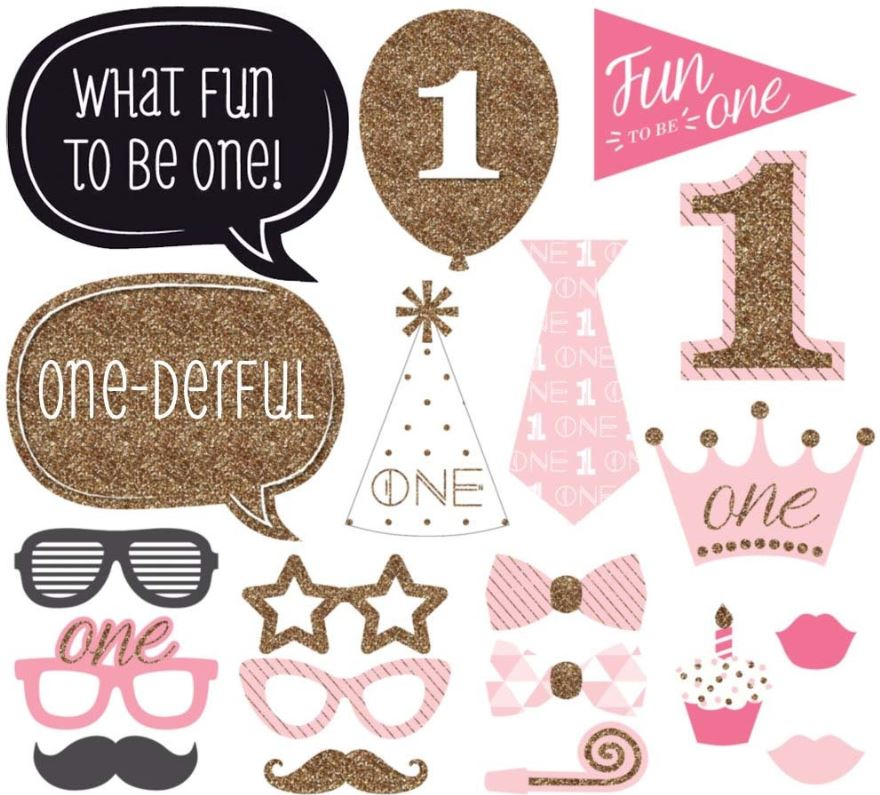 FIRST BIRTHDAY (GIRL) Photo Booth Prop