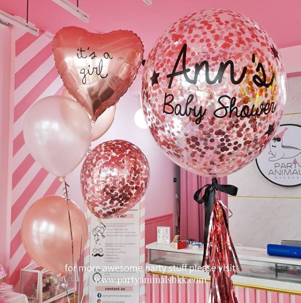 Rose Gold Balloon Set (with Helium)