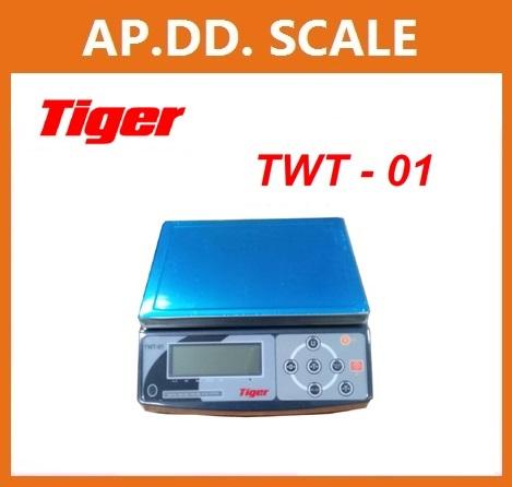 ตาชั่งดิจิตอล เครื่องชั่งดิจิตอลตั้งโต๊ะ เครื่องชั่งระบบอิเล็กทรอนิกส์ เครื่องชั่ง 3 kg ละเอียด 0.1 g ขนาด 220*310mm TIGER รุ่น TWT-01