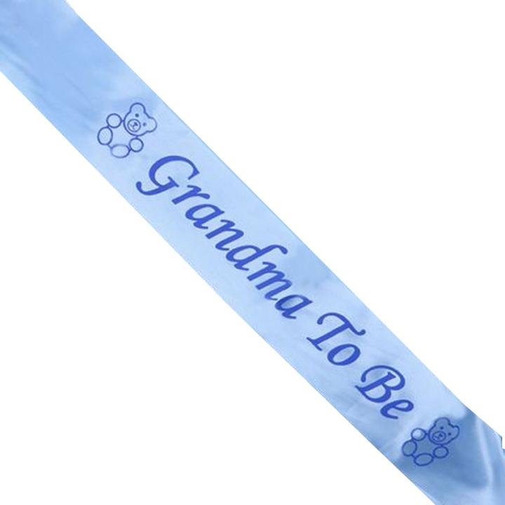 สายสะพาย GRANDMA TO BE (สีฟ้า) (สำหรับงาน Baby Shower)