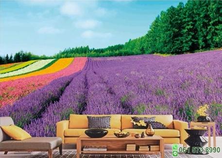 วอลเปเปอร์ภาพวิว ดอกไม้สีม่วง
