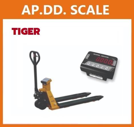 เครื่องชั่งรถยกพาเลท ยี่ห้อ Tiger รุ่น THP-01 (Hand Pallet Scale)เครื่องชั่งน้ำหนักสินค้ารถพาเลท เครื่องชั่งรถพาเลท 1000kg ค่าความละเอียด 500g