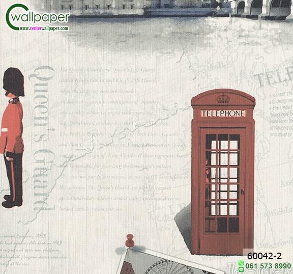 วอลเปเปอร์ติดผนัง ราคาถูก ลายตู้โทรศัพท์