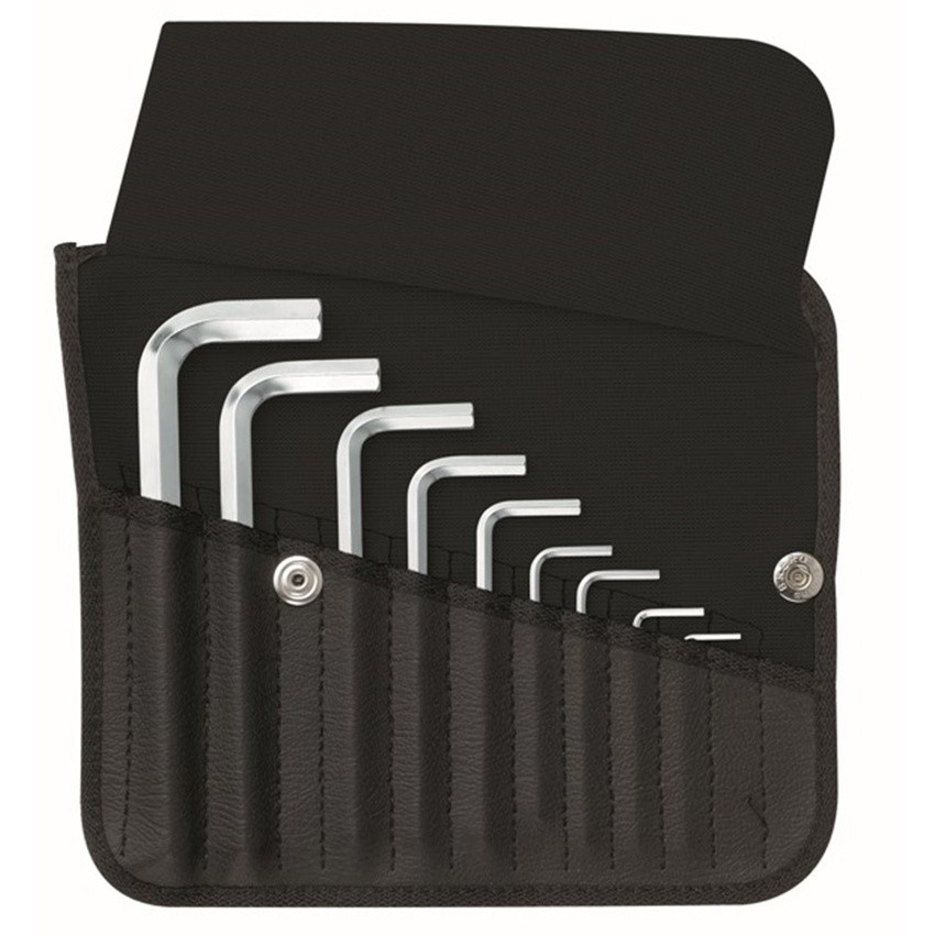 หกเหลี่ยมชุด PB Swiss Tools หัวตัด สั้น รุ่น PB 213 ZK (9 ตัว/ชุด) เบอร์ 1/16 - 3/8 นิ้ว บรรจุในซองหนัง