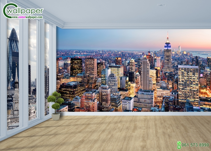 วอลเปเปอร์ติดผนังภาพวิวตึกสูง เมืองนิวยอร์ค