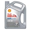 เชลล์ เฮลิกส์ HX8 5W-40 ขนาด 4 ลิตร (Shell Helix HX8 SYNTHETIC 5W-40, API SN/CF, ACEA A3/B4)