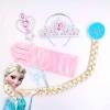เซ็ทคฑา, มงกุฏ, ผมเปียเจ้าหญิงเอลซ่า (Elsa Frozen) - สีชมพู