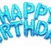 """ลูกโป่งฟอยล์ HAPPY BIRTHDAY 16"""" (สีฟ้า)"""