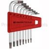 หกเหลี่ยมชุด PB Swiss Tools หัวดาว TORX สั้น/ไม่มีรู รุ่น PB 410.H 6-25 (8 ตัว/ชุด)