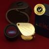 กล้องส่องพระ Leika 10x18mm ของแท้ (บอดี้ทองก้านดำ) หุ้มยางมือจับ