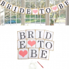 BRIDE TO BE Flag with Old Rose Hearts