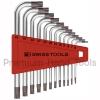 หกเหลี่ยมชุด PB Swiss Tools หัวดาว TORX สั้น/ไม่มีรู รุ่น PB 410.H 6-45 (12 ตัว/ชุด)