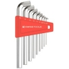 หกเหลี่ยมชุด PB Swiss Tools รุ่น PB 2210 H-10 หัวตัด สั้น / คอสั้น 100° (9 ตัว/ชุด)