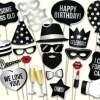 BLACK HAPPY BIRTHDAY Photo Booth Prop