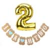 Set ป้ายแขวนงานวันเกิดและลูกโป่ง - ลูกชายอายุ 2 ขวบ