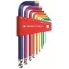 หกเหลี่ยมชุด PB Swiss Tools หัวบอล สั้น รุ่น PB 212 H-10 RB Multicolor (9 ตัว/ชุด)