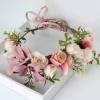 มงกุฎดอกไม้สีชมพู (อุปกรณ์งานปาร์ตี้สละโสด Hen Night Party)
