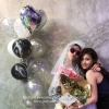 Black & White Balloon Bouquet for Hen Night