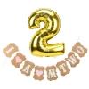 Set ป้ายแขวนงานวันเกิดและลูกโป่ง - ลูกสาวอายุ 2 ขวบ