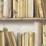 วอลเปเปอร์ติดผนัง หนังสือเก่าสีเหลืองครีม
