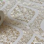 wallpaper ลายไทย ลายพุ่มข้าวบิณฑ์ สีขาว-ทอง