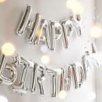 """ลูกโป่งฟอยล์ HAPPY BIRTHDAY 16"""" (สีเงิน)"""
