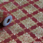 wallpaper ลายไทย ตราประจำยาม สีแดง-ทอง