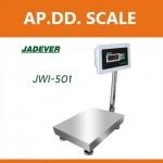 เครื่องชั่งดิจิตอล เครื่องชั่งตั้งพื้น 300กิโลกรัม ความละเอียด20g แท่นชั่ง 50x60 cm. ยี่ห้อ JADEVER รุ่น JWI-501
