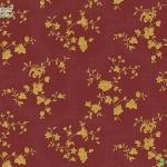 วอลเปเปอร์ลายดอกไม้คลาสสิคสีทองพื้นแดง