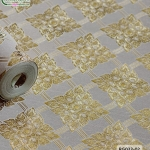 wallpaper ลายไทย ตราประจำยาม สีครีม-ทอง