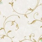Wallpaper วินเทจใบไม้สีเหลืองพื้นขาว