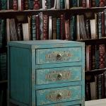 วอลเปเปอร์ติดผนัง ชั้นหนังสือสีแดง เขียว