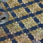wallpaper ลายไทย ตราประจำยาม สีน้ำเงิน-ทอง
