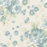 วอลเปเปอร์ดอกไม้วินเทจสีเขียวพื้นครีม