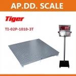 เครื่องชั่งปริ้นน้ำหนัก ตาชั่งพิมพ์น้ำหนัก เครื่องชั่งดิจิตอลปริ้นได้ เครื่องชั่งพร้อมพิมพ์ 3000kg ค่าละเอียด 500g Tiger รุ่น TI-02P-1010-3T ขนาดแท่น 100*100cm.