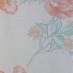 วอลเปเปอร์ดอกไม้วินเทจดอกสีส้ม