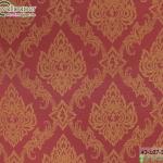 wallpaper ลายไทยห้องพระ ลายบัวแก้วสีแดง
