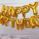 """ลูกโป่งฟอยล์ HAPPY BIRTHDAY 16"""" (สีทอง)"""