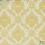 wallpaper ลายไทยห้องพระ ลายบัวแก้วสีทอง